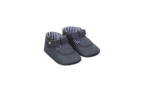 Navy T-Bar Pram Shoes