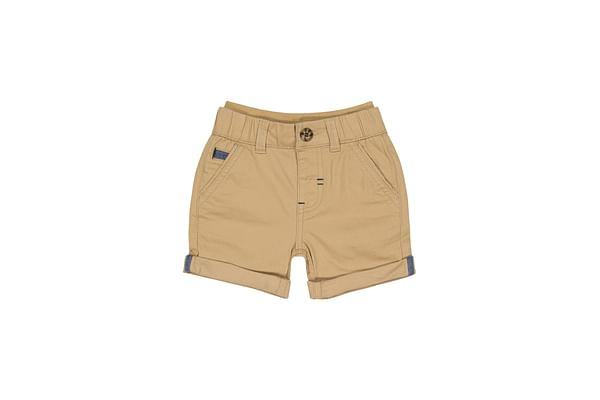 Boys Shorts Roll Up Chino - Khaki