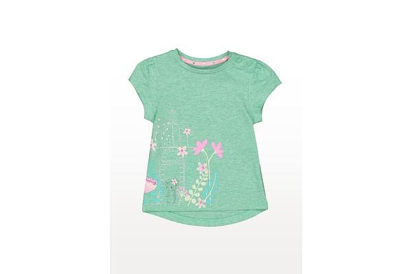 Koala And Flowers Green T-Shirt