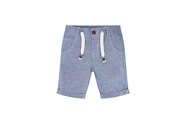 Chambray Striped Shorts