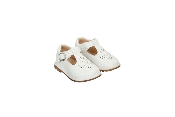 Girls Cut -Out First Walker Shoes - White