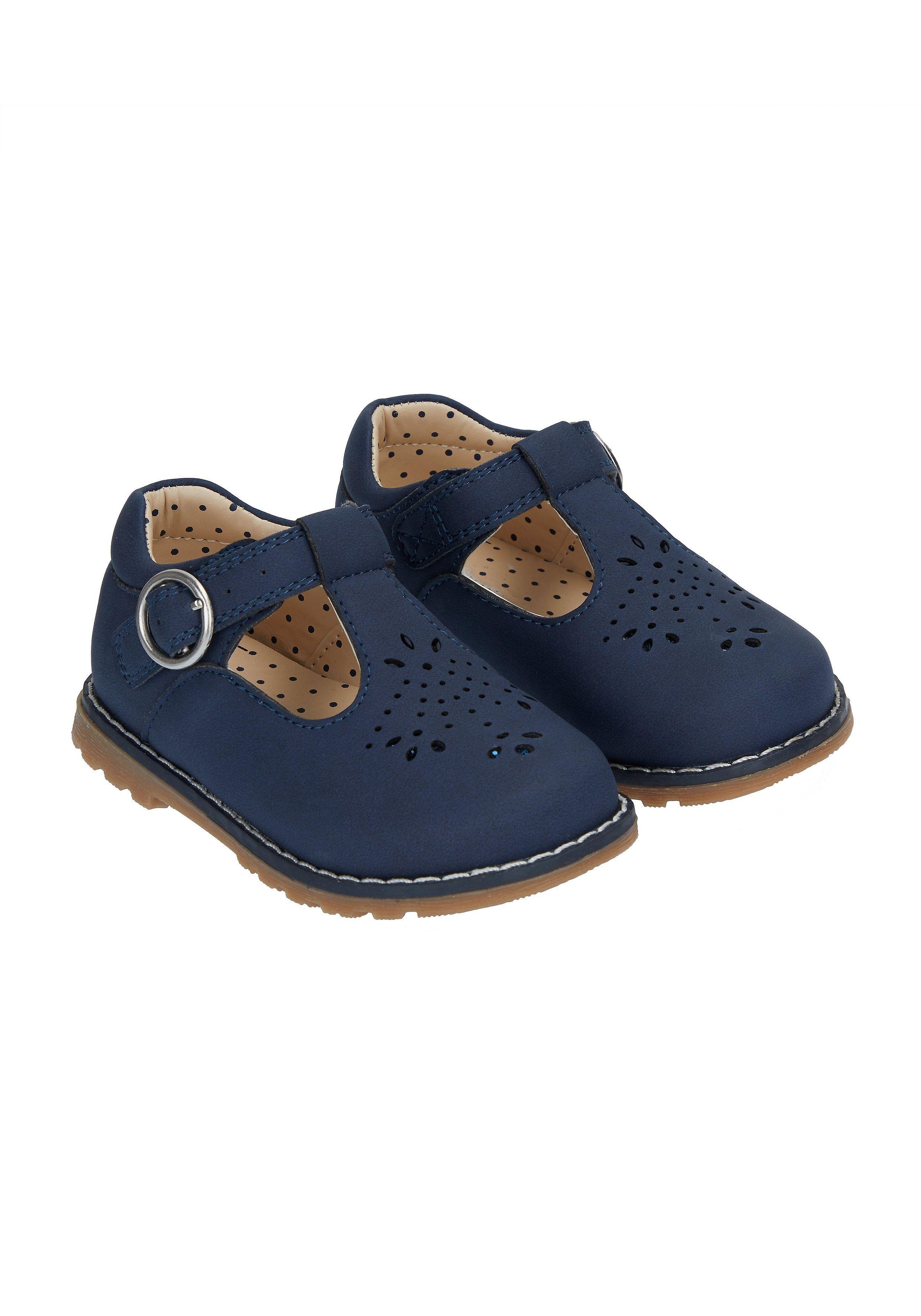 First Walker Navy T-Bar Shoes
