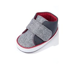 Grey Felt Pram Shoes