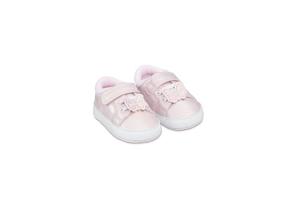 Pink Shimmer Butterfly Pram Trainers