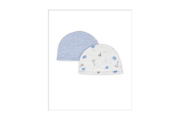 Boys Hats Animal Print - Pack Of 2 - Blue White