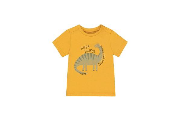Boys Half Sleeves T-Shirt Dino Print - Yellow