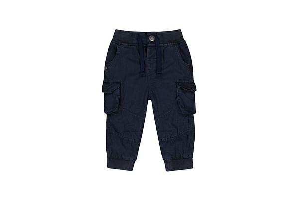 Boys Cargo Patch Pocket With Ribwaist - Navy