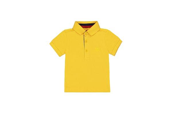 Boys Half Sleeves Polo T-Shirt - Yellow