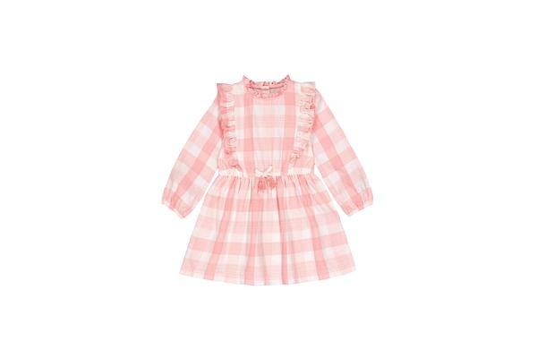 Pink Gingham Frill Dress