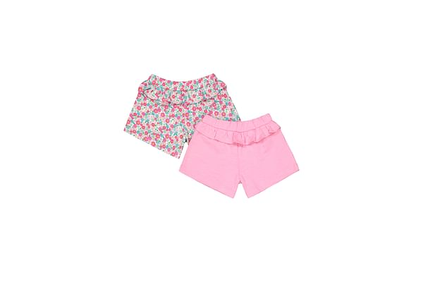 Pink And Floral Shorts - 2 Pack