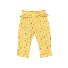 Woven Mustard Ditsy Floral Trousers