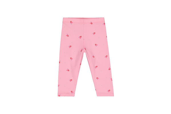 Girls Leggings Butterfly Print With Elasticated Waistband - Pink