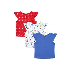 Colourful Keep Smiling Print T-Shirts - 3 Pack