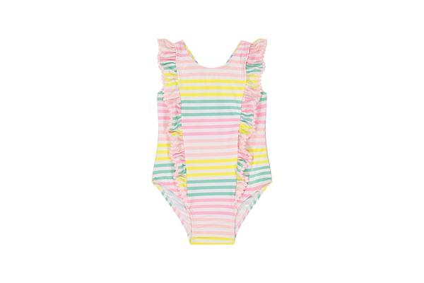 Pastel Multicolour Stripe Swimsuit