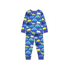 Boys Full Sleeves Pyjamas Dinosaurs Print - Blue