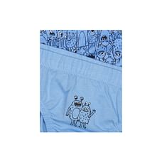 Boys Monster Print And Striped Briefs - Pack Of 5 - Multicolor