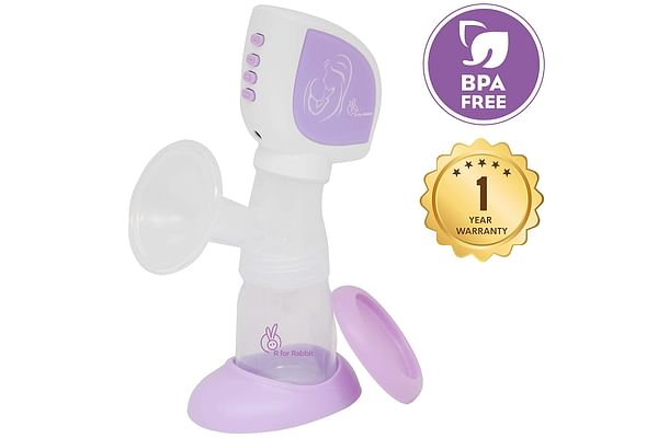 R for Rabbit First Feed Comfort Electric Breast Pump Purple