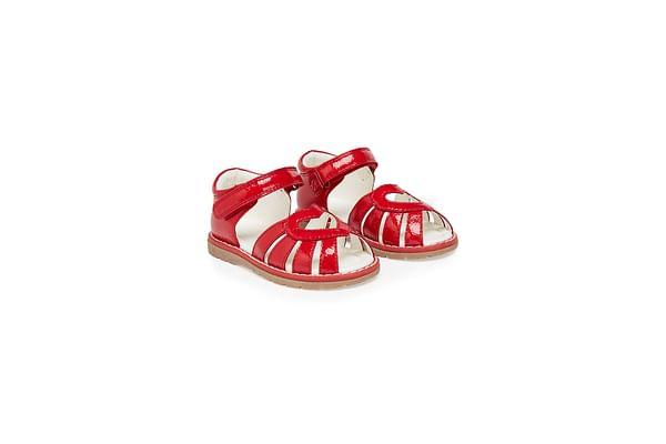 Girls Sandals Heart Design - Red