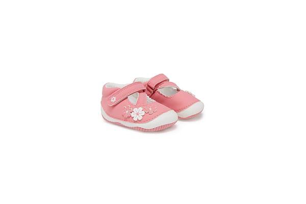 Girls First Walker Shoes Flower Detail - Pink