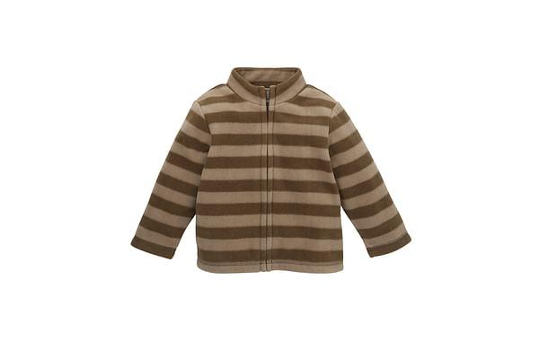 Boys Full Sleeves Sweatshirt Striped - Brown