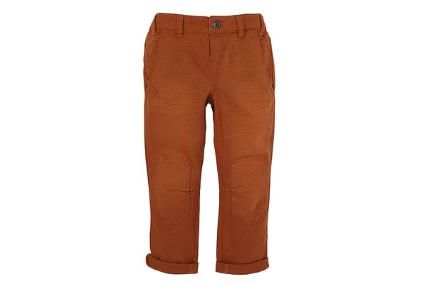 Boys Trousers Knee Patch Detail - Brown