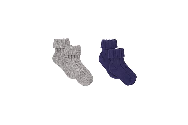 Boys Socks Ribbed - Pack Of 2 - Multicolor
