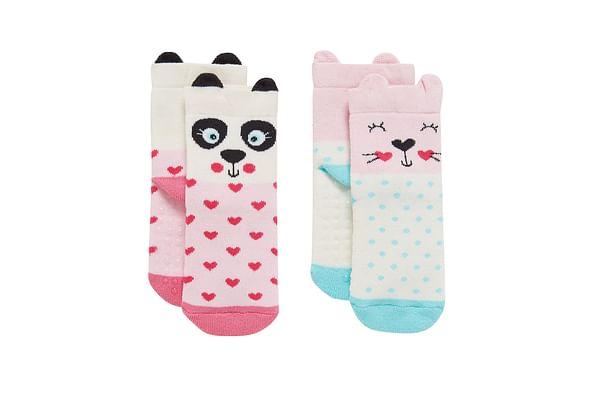 Girls Socks 3D Details - Pack Of 2 - Multicolor
