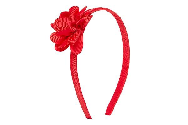 Girls Hairband Flower Detail - Red