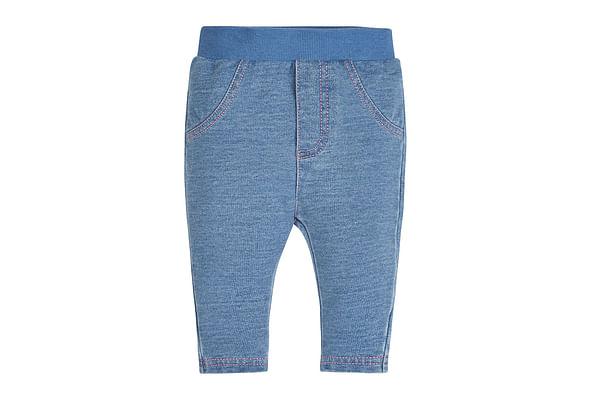 Girls Leggings Rib Waist - Blue