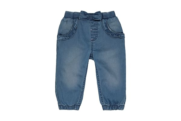 Girls Jeans Bow Detail - Blue