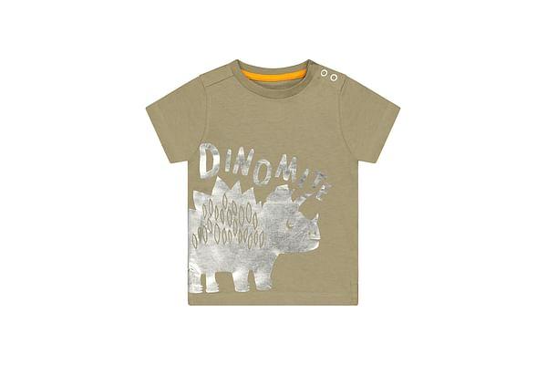 Boys Half Sleeves T-Shirt Dino Print - Khaki