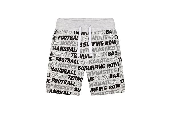 Boys Shorts Text Print - Grey
