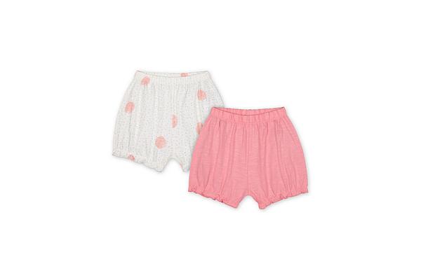 Girls Shorts Polka Dot Print - Pack Of 2 - Pink Cream