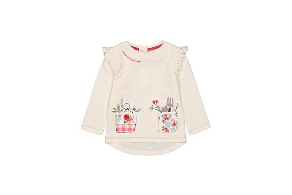 Girls Full Sleeves T-Shirt 3D Details - Pale Pink