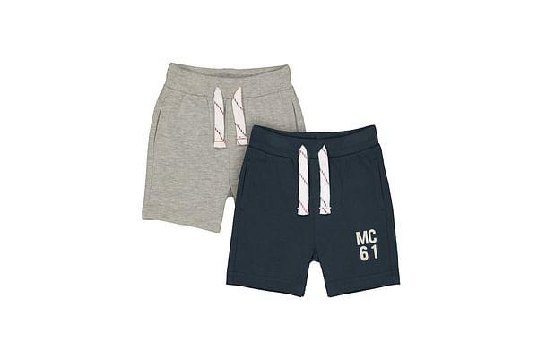 Boys Knitted Shorts - Grey Black