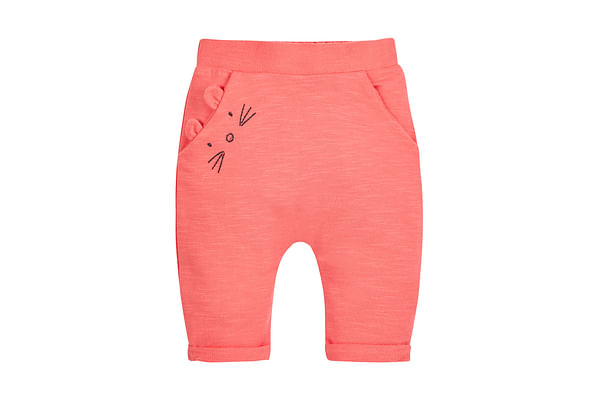 Girls Joggers 3D Mouse Detail - Pink