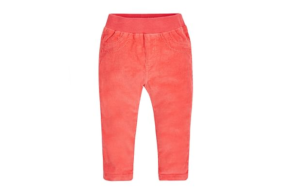Girls Cord Trousers Rib waist - Coral