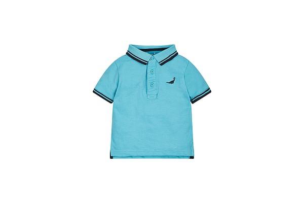 Boys Turquoise Dinosaur Polo Shirt