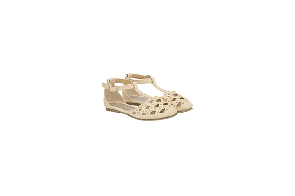 Girls Shoes Cut Out Design With Studs - Pink