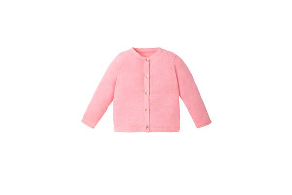 Girls Full Sleeves Cardigan - Pink