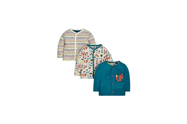 Boys Full Sleeves T-Shirt Striped And Printed - Pack Of 3 - Multicolor