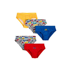 Boys Briefs Car Print - Pack Of 5 - Multicolor