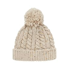Boys Beanie Cable Knit - Cream