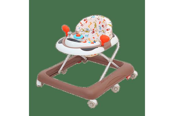 Comdaq Airplane Musical Baby Carriage Orange Brown