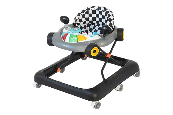 Comdaq F1 Racing Car Musical Baby Carriage Grey