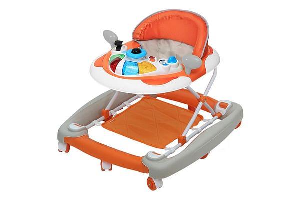 Comdaq 2 In 1 Mini Car Musical Baby Carriage Orange
