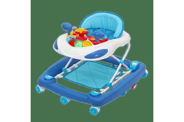 Comdaq 2 In 1 Car Musical Baby Carriage Blue