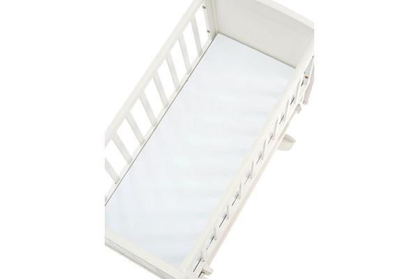 mothercare 38 x 89cm crib square end safeseal foam core mattress