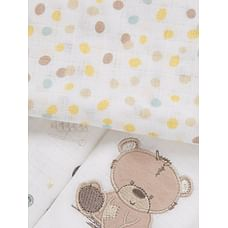 Mothercare Teddy'S Toy Box Baby Muslins