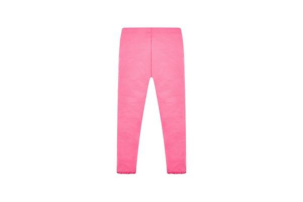 Girls Crochet Leggings - Pink